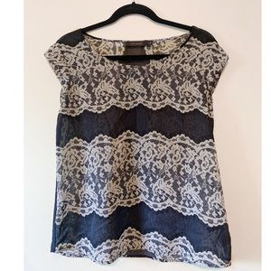 Lace-Patterned Blouse from The Limited